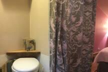wc sani broyeur derrière rideau dans la chambre Ne rien mettre autre que papier toilette