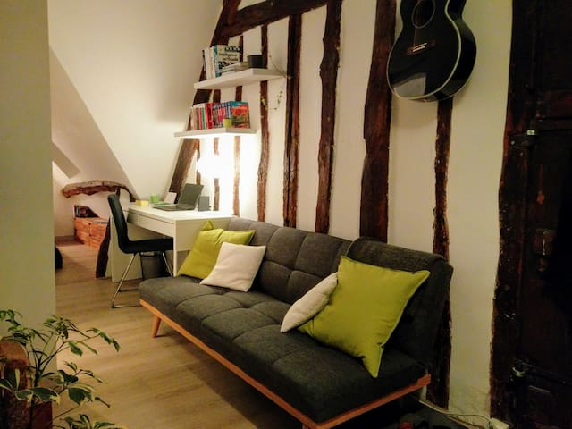Rustic studio in historical city center - Vernon - Apartment