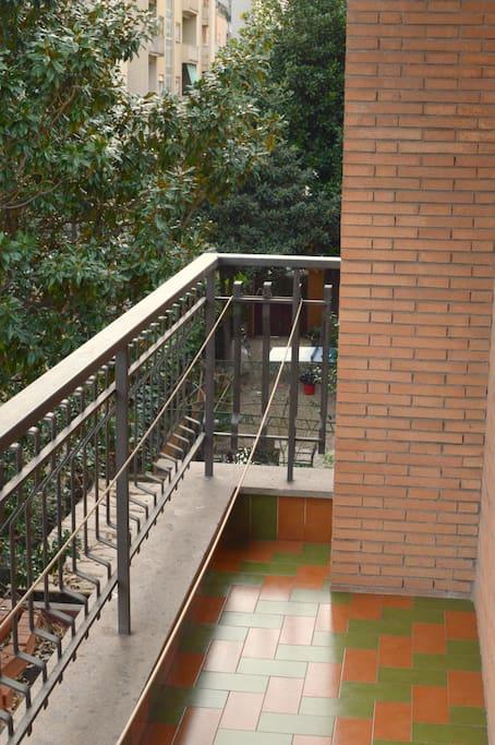 Il balcone della stanza privata