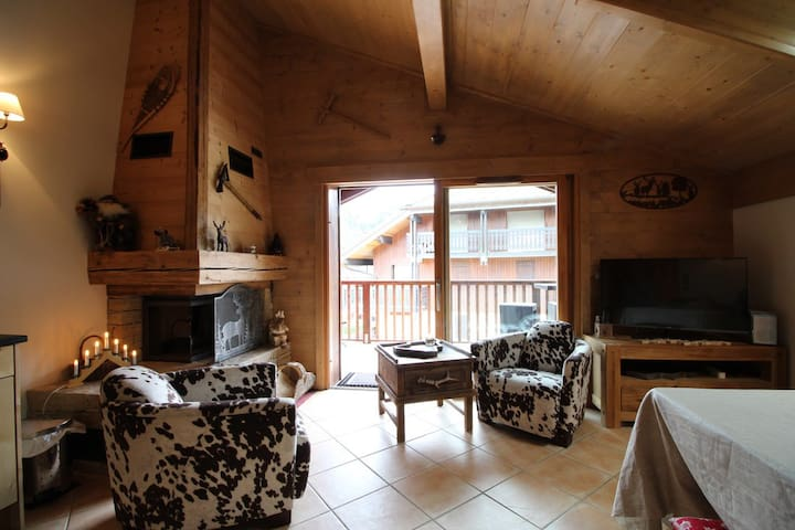 ADEN08 - 2bedroom 4people : fire place, parking, ski in /out