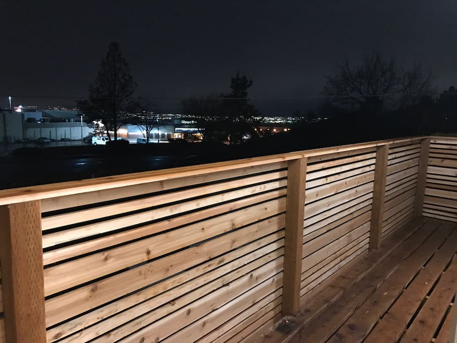 Outside deck and south view