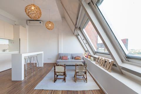 Super Cozy Studio con vista al Polo en Las Cañitas