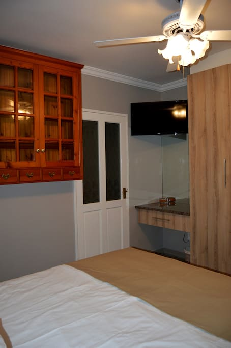 Room 2: Not as spacious but just as comfy, equipped with all the luxury's of room 1.