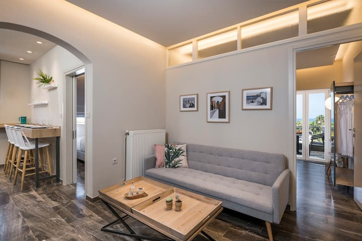 Sun Ray Luxury Apartment 204 | 100m From Agia Marina Beach
