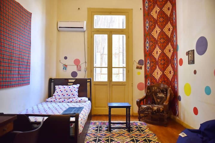 ❤️Cozy Bright Bedroom In Downtown Cairo-Tahrir SQ☀️
