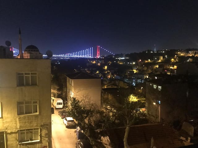 Entire house w/ Private Terrace and Bosphorus view
