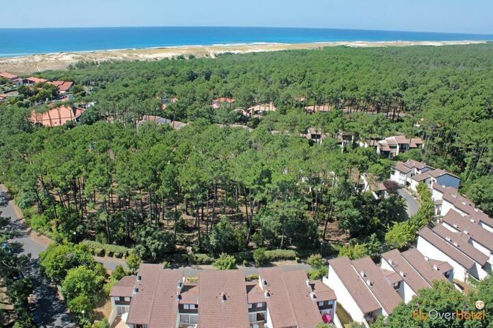 Appartement accueill près de la forêt et de l'océan ! Piscine + fitnes