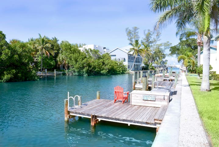 This is the dock just outside of the condo.
