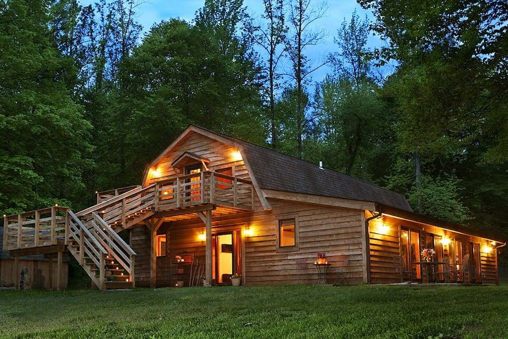 Stylishly converted from a barn to a 3100 sf home, the Barn is the largest vacation rental in the area - perfect for large families and large gatherings.