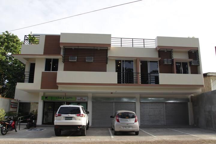 Newly built modern building