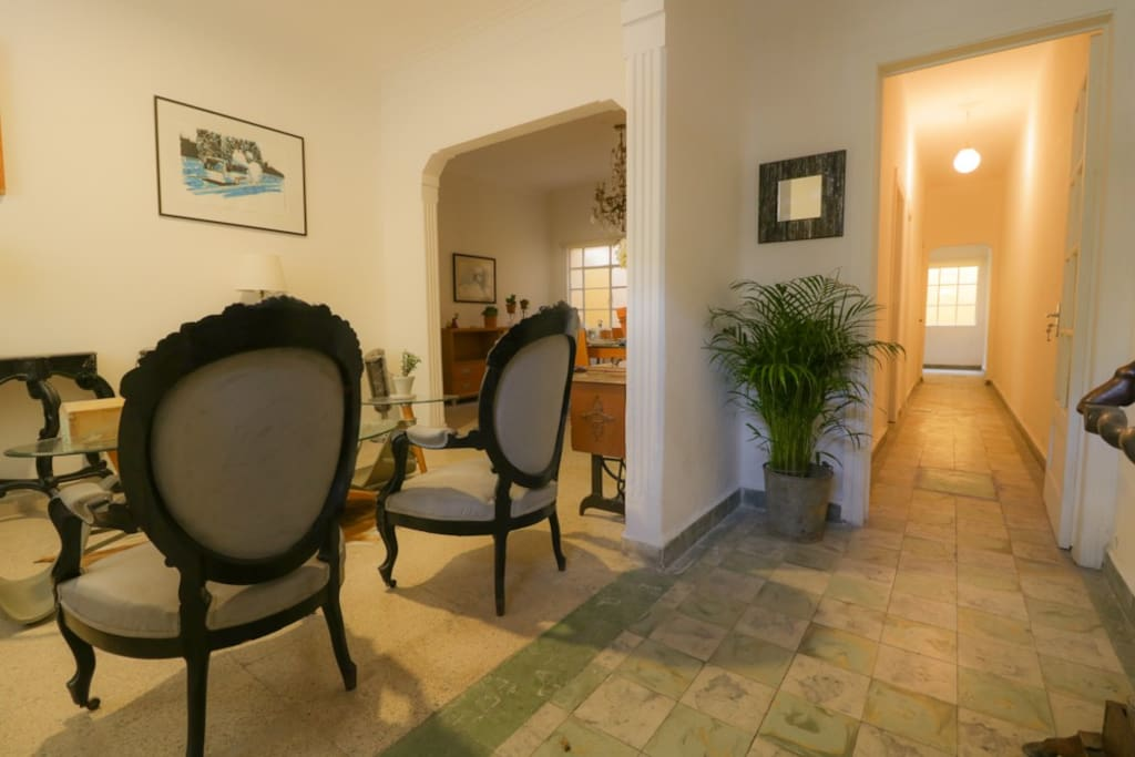 The apartment is located on the ground floor so it it is very easy to unload your luggage and groceries.
