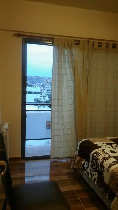 vista  de las sierras desde la habitacion