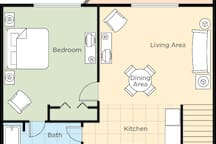 1 Bedroom Floor Plan (may vary slightly)
