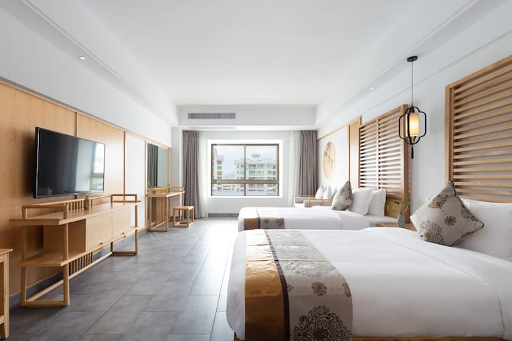 花筑·三亚禅意大酒店|高级园景双床间
