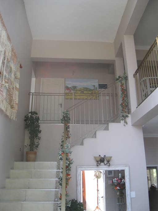 The staircase to the guest rooms