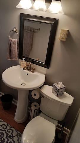 Newly updated bath.