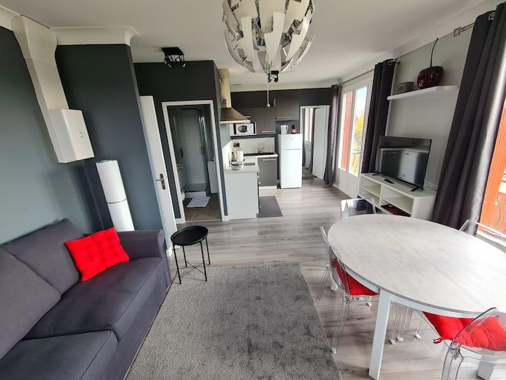 T2 neuf , petite résidence , parking , balcon