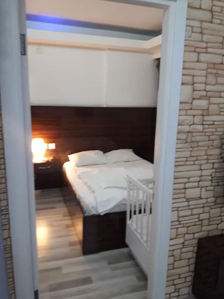 izmir Alsancakda iki yatakli daire