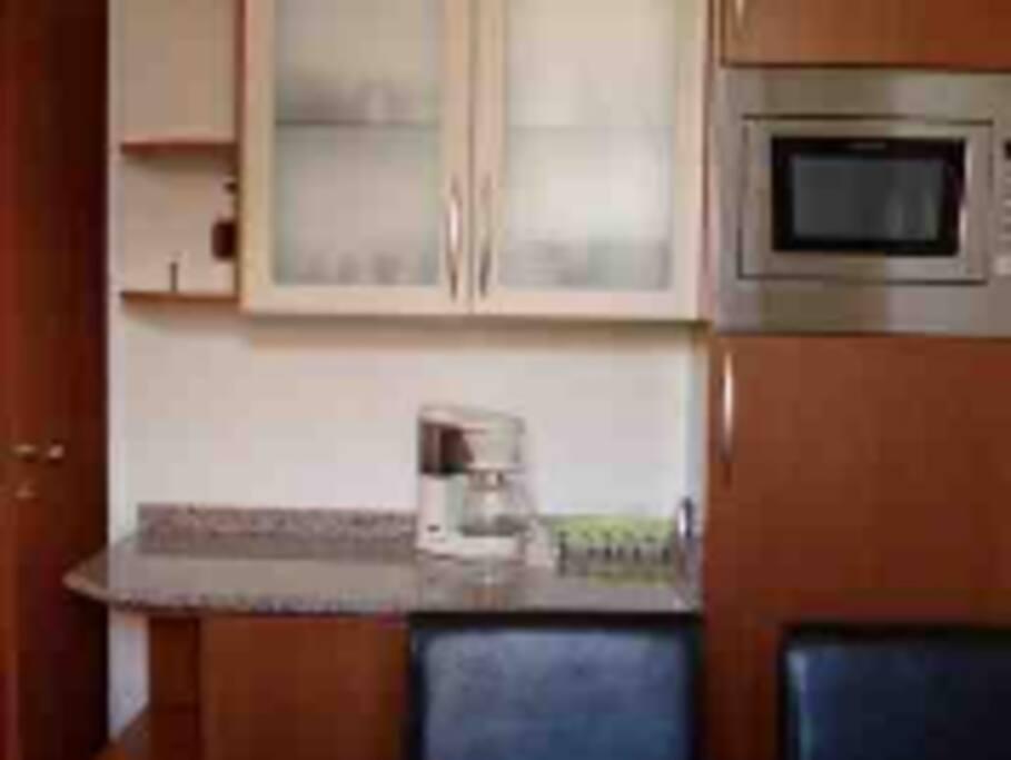 cozinha com utensilios