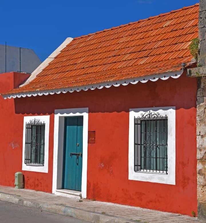 Casa de tejas marsellesas en barrio colonial. SXIX