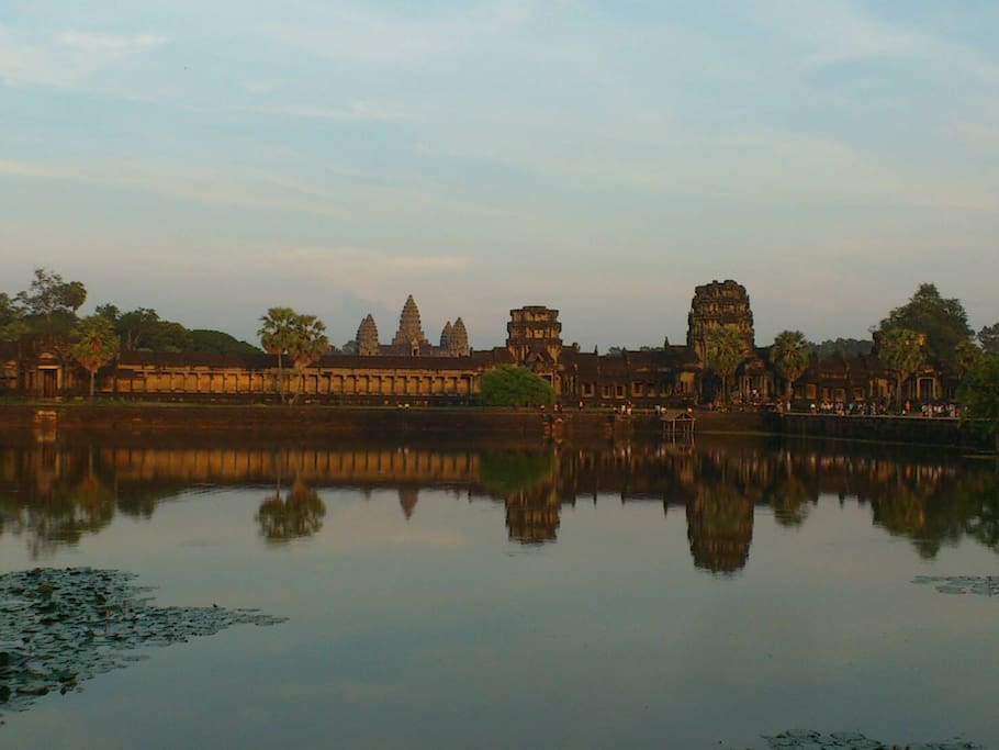 The Angkor Wat temple at Siem Reap, Cambodia. Rithy is offering a Private Tour @ the Angkor Wat