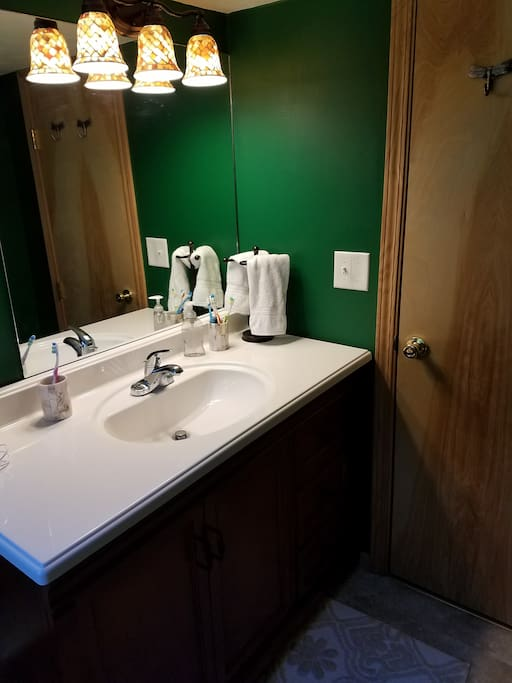 Updated upstairs half-bath