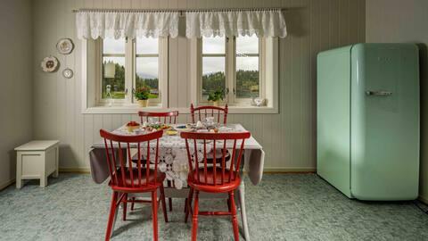 Idyllisk hus på vakre Helgeland