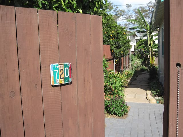Entrance into the property.