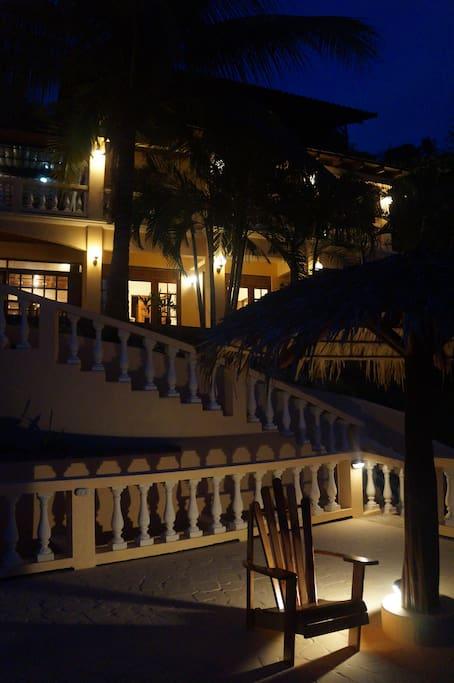 Casa Monacita at night