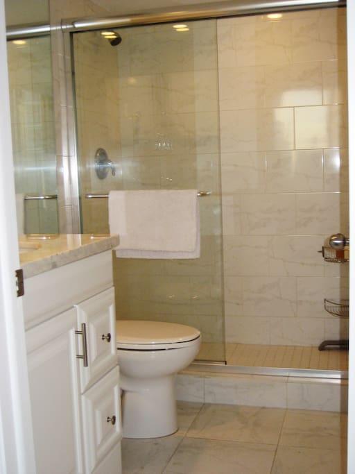 Bathroom in guest room.