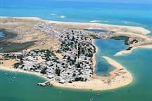 Armona island town and beach