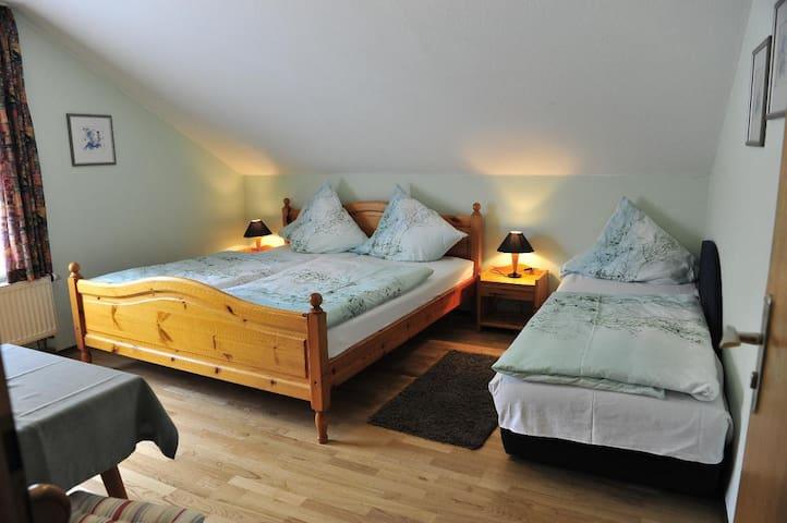 Pension Holzapfel (Essing), Mehrbettzimmer für 3 Personen, 16qm