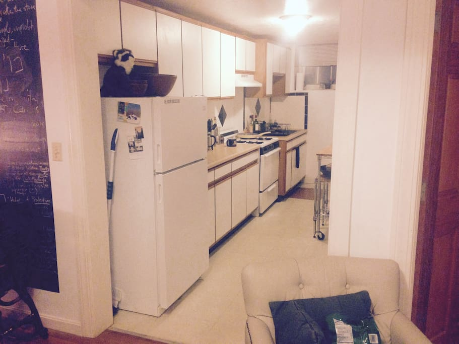Kitchen connected to Living Room