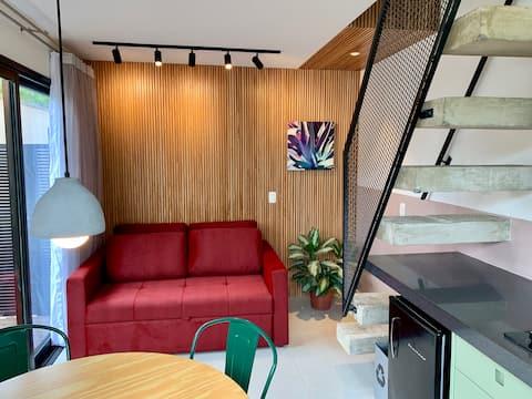 Loft 126 - design conforto e ótima localização.