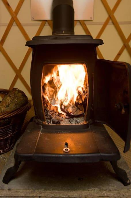 indoor woodburner