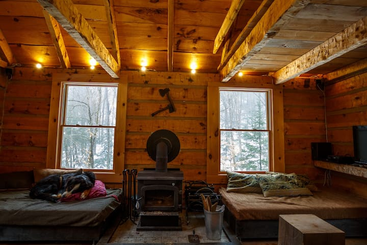Off the grid log cabin in 100 acres - Labelle - Hytte (i sveitsisk stil)