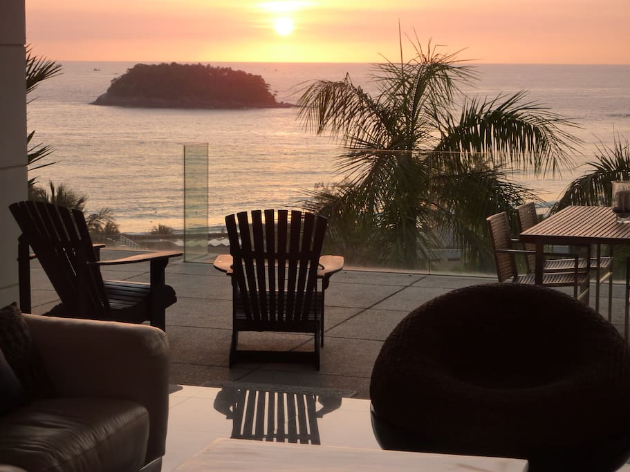 Breathtaking Sunset View From The Living Room