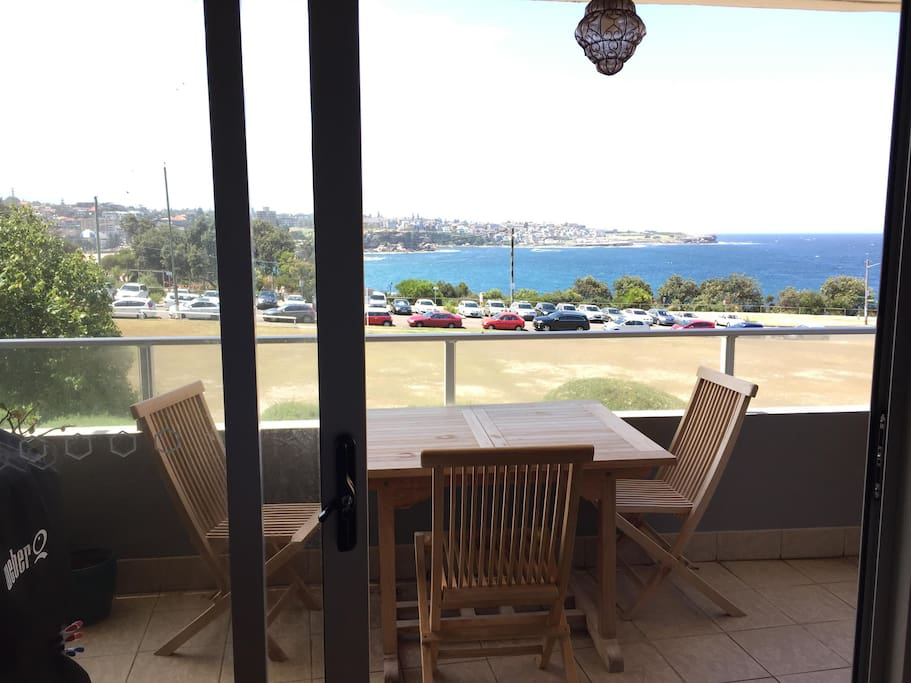 Balcony with northern views across Coogee Bay