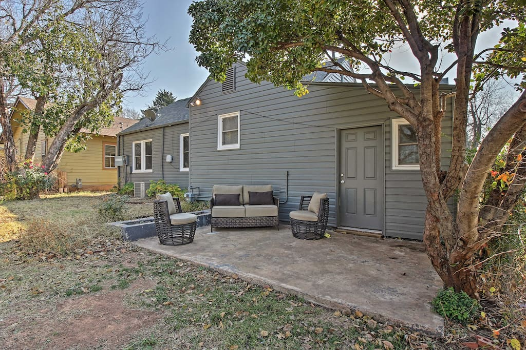 You and your loved ones will love spending time in the large, fenced yard with furnished patio.