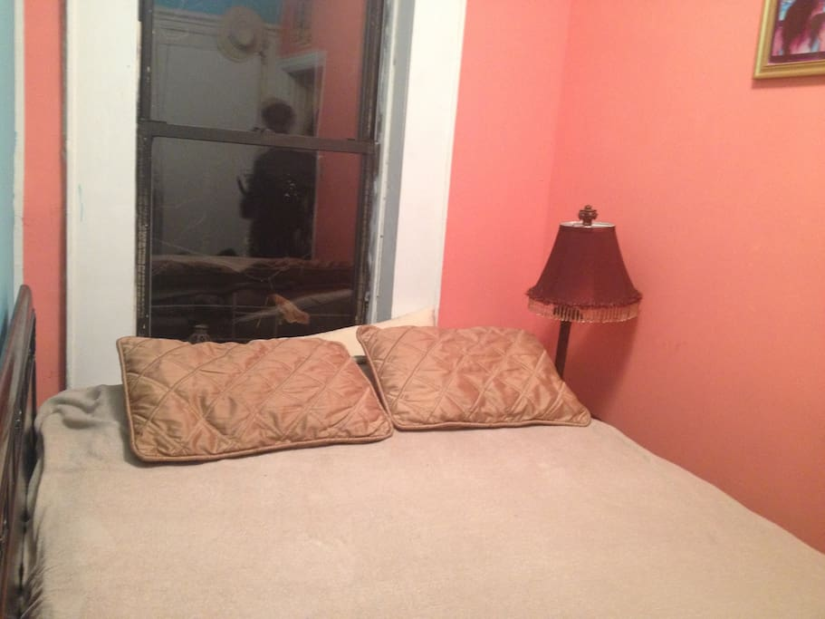 Separate attached room with queen mattress