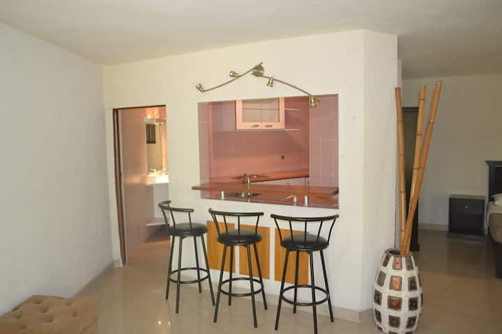 Studio apartment in cosy resort