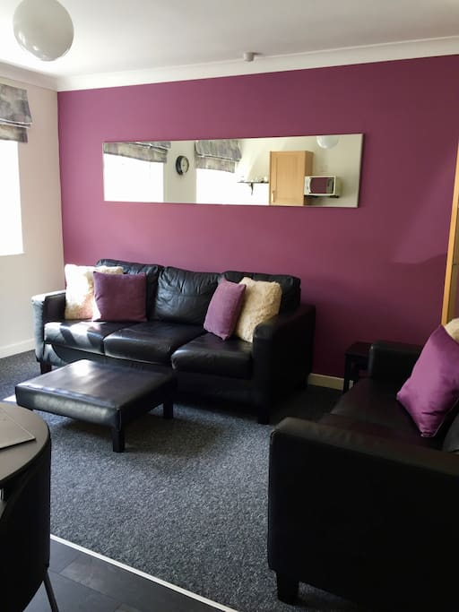 Lounge area with two sofas