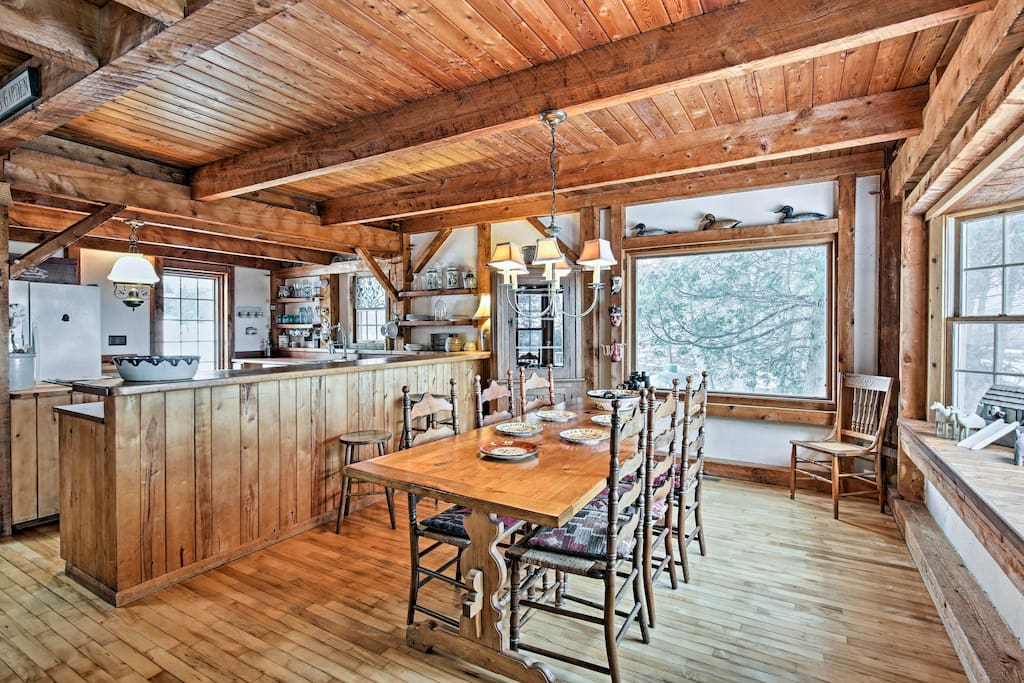This custom-build barn home beautifully captures the natural charm and character of Door County.