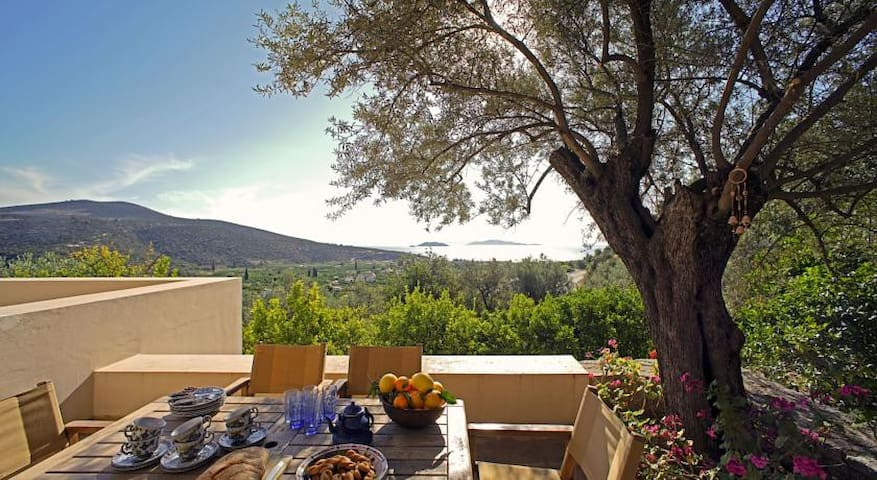 EPIDAVROS Country VILLA Sea View Sleeps 11 - Argolida