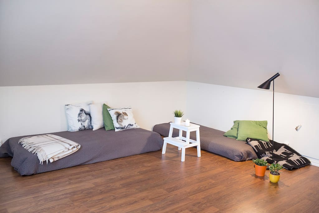 Bedroom for three persons, in the attic.