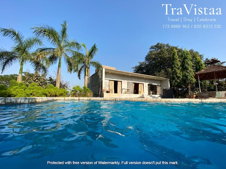 TraVistaa - Nature Delight with Private Pool