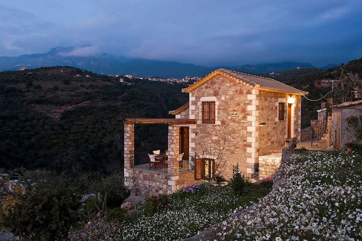 Stone built dream house - Messenia