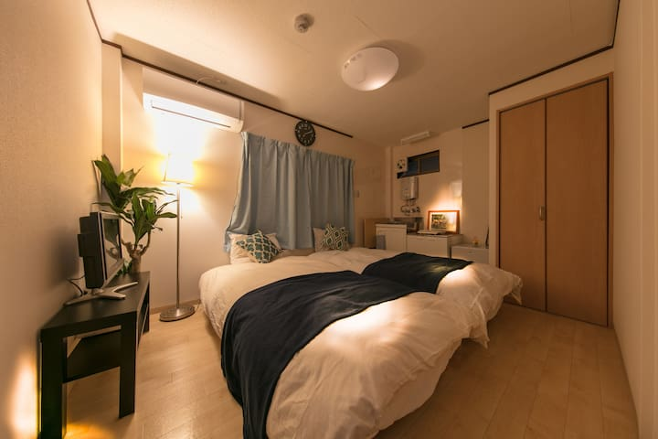 KT5/Newly Open/Private Room/Great Access Namba&KIX
