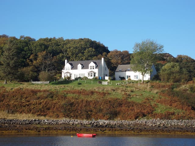 Two cosy cottages in Badachro Bay.
