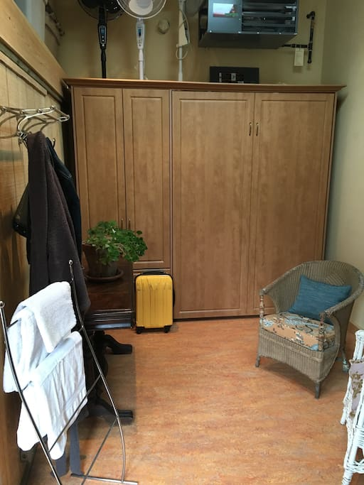 Bed stored away